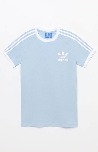 light blue adidas shirt adidas california light blue t shirt at pacsun com