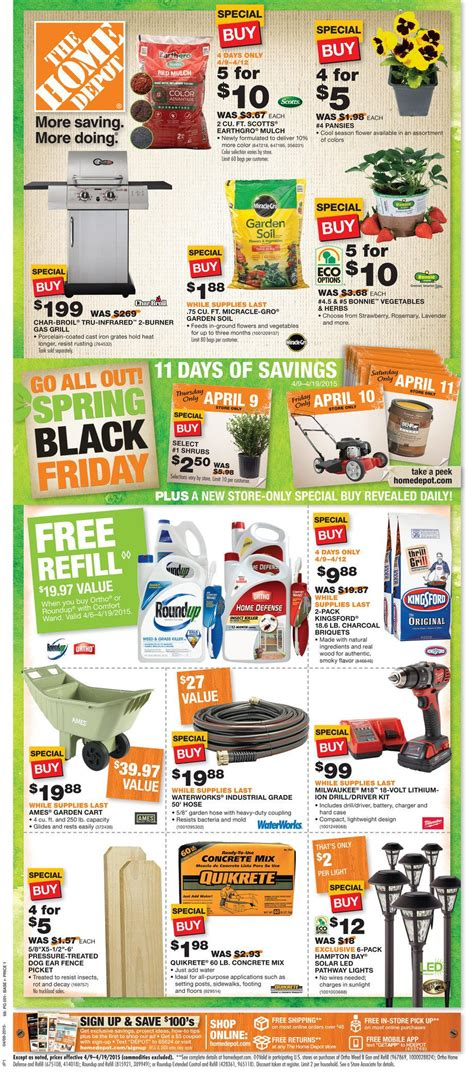 home depot black friday sale great deals on