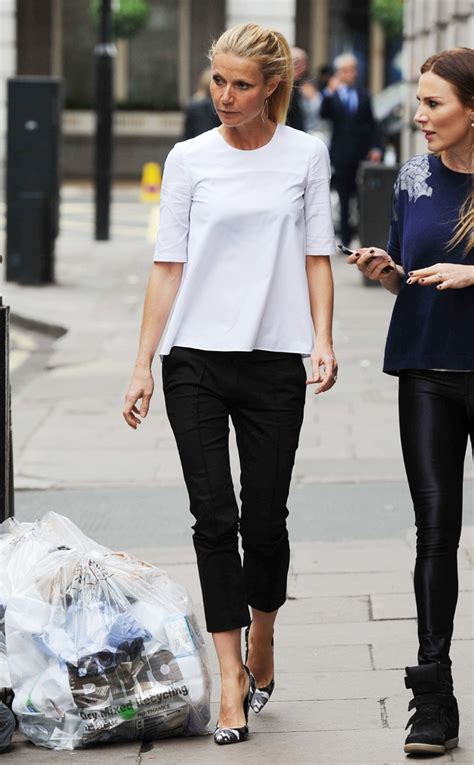 celebrity style two tone from celebrity street style gwyneth rocking a