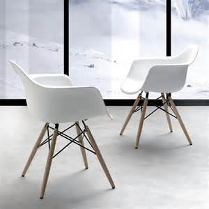 chaise design avec accoudoirs dsw sur cdc design