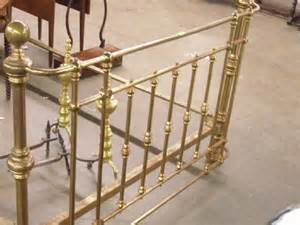 1168 size antique brass bed lot 1168
