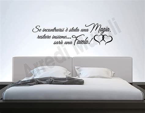 adesivi murali da letto adesivi murali frase da letto decorazioni arredo