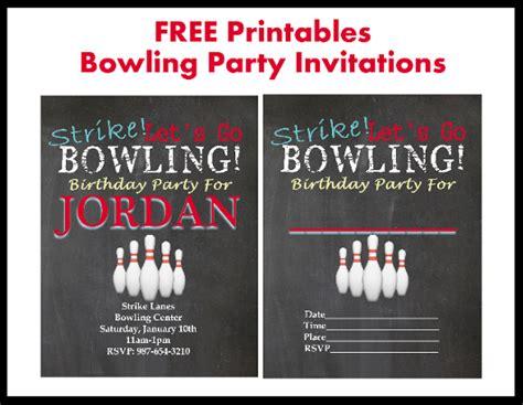 printable birthday party invitations bowling free bowling party printable invitations printables 4 mom