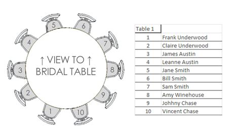 table of 10 seating plan template hamilton island weddings
