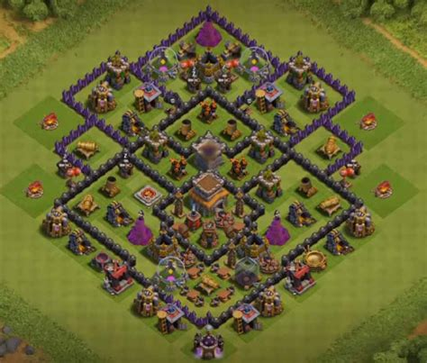 best defense town hall level 8 2016 8 best coc town hall th8 defense bases 2017 bomb tower