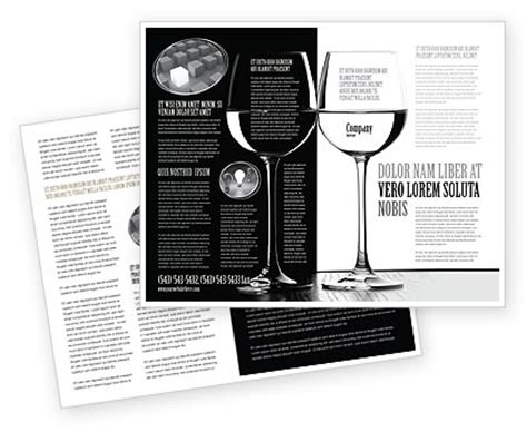 black and white brochure template design and layout