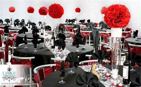 17 Best images about Red Black and White Wedding, Damask