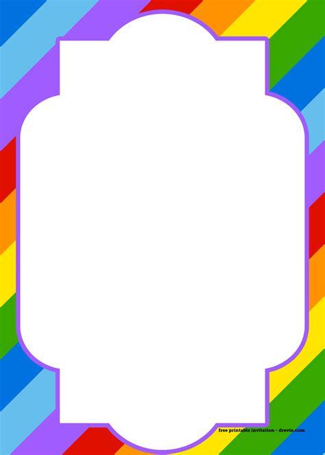 printable birthday cards rainbow free printable rainbow invitation template thank you