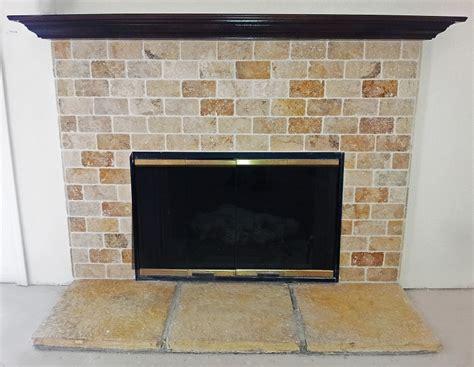 travertine tile fireplace surround fireplace nya tile inc