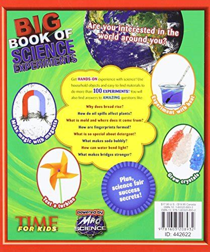 big book of science projects sastobook time for kids big book of science experiments a step by