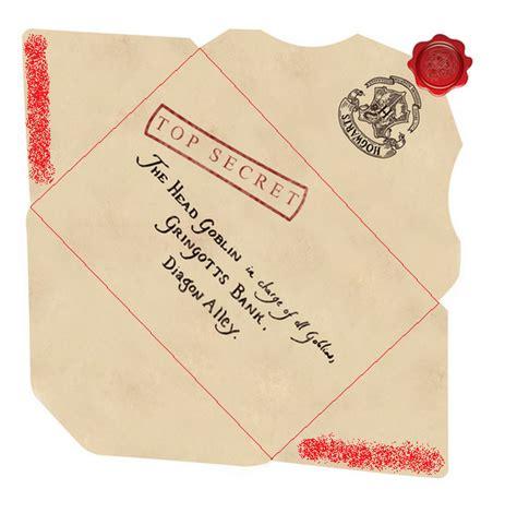 printable hogwarts acceptance letter envelope carta de dumbledore para o gringotts bank harry potter