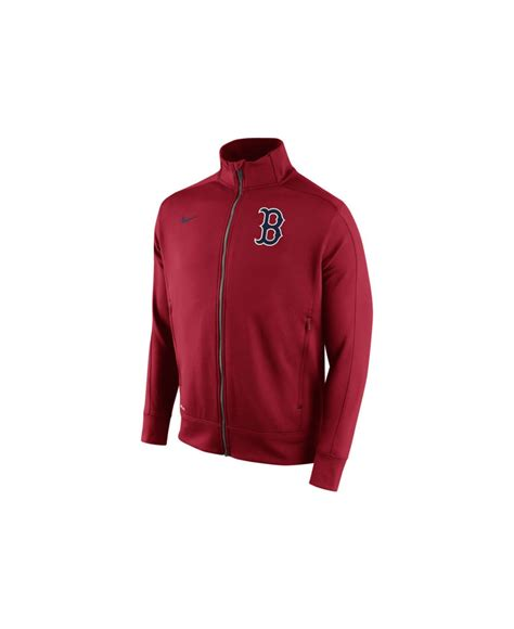 Nike Slop On Boston nike s boston sox 1 5 track jacket in for