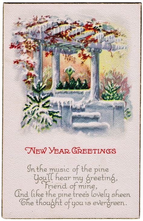 new year postcard antique new year postcard knick of time