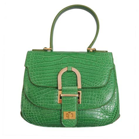 Other Designers Purse Deal Oscar De La Renta Tortoise Python Clutches by Oscar De La Renta Bright Green Alligator Bag At 1stdibs