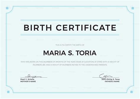 Blank Birth Certificate Design Template In Psd Word Illustrator Indesign Indesign Certificate Template