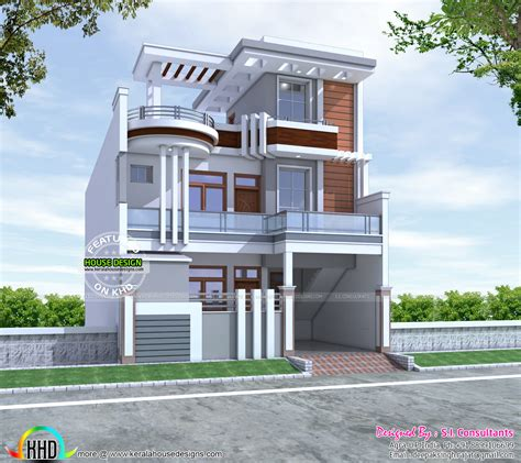 home design 15 by 60 2600 sq ft cute decorative contemporary home kerala home