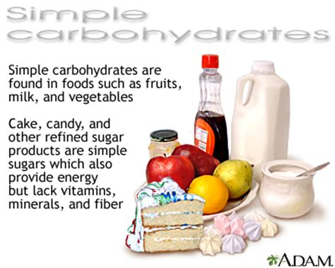 simple carbohydrates medlineplus medical encyclopedia image