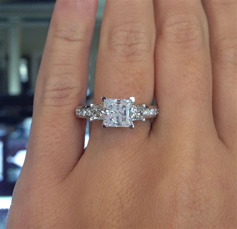 Engagement Rings On by Verragio Engagement Rings Gold Princess Cut Setting