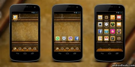 vintage themes for android vintage label android theme for dodol launcher