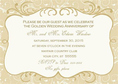 design anniversary invitation jaw dropping 50th wedding anniversary invitation