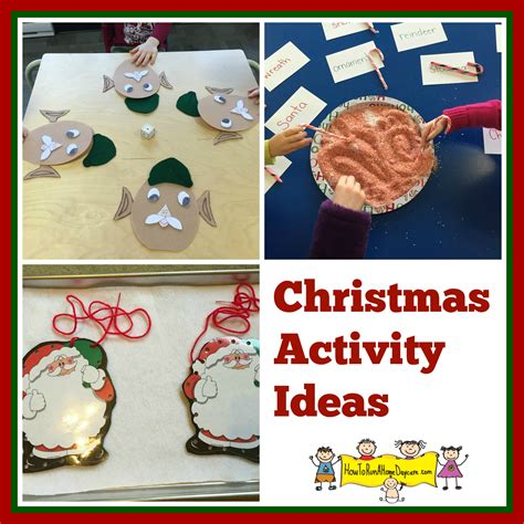christmas activity ideas how to run a home daycare