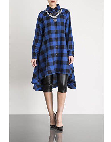 Dress Polo Import olrain s irregular hem polo classic plaids casual