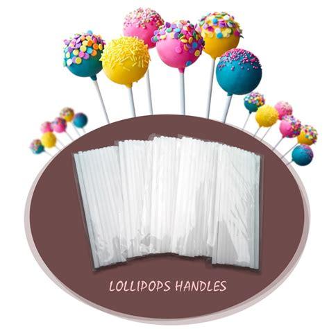Orderan Cake Pop 100 Pcs new selling lovely 100pcs pack pop sucker sticks cake plastic lolly lollipop chocolate diy