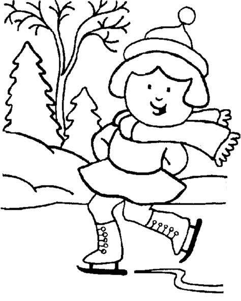 Winter Scene Coloring Pages Coloring Home Coloring Pages Of Winter