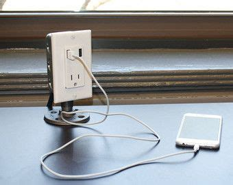 desk l with usb charging station industrial desk usb charging station i could totally make