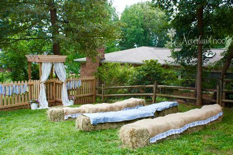 backyard country a charming backyard country wedding neverland nook