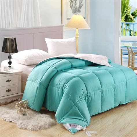 down comforter blue sky blue and white duck down comforter comforters