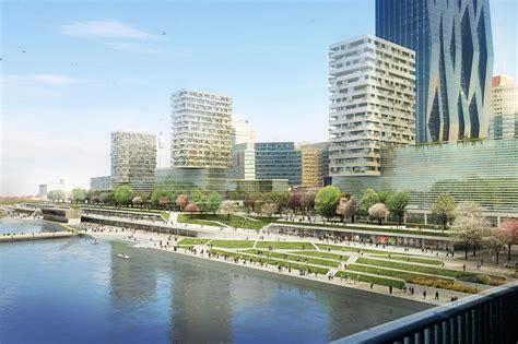 design contest opens for moscow riverside hotel azpml presents copa cagrana masterplan for vienna