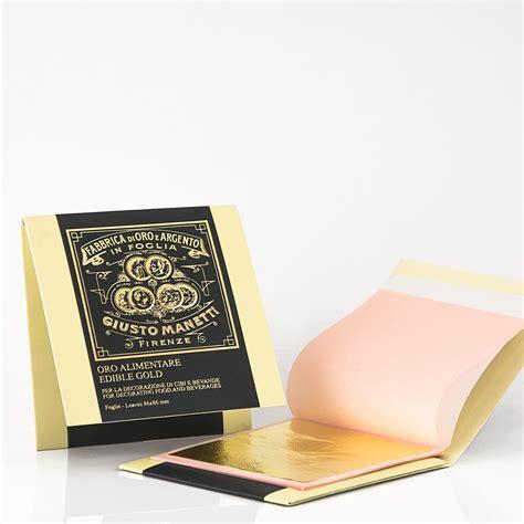foglia oro alimentare libretto foglie oro alimentare 23 kt luxury giusto