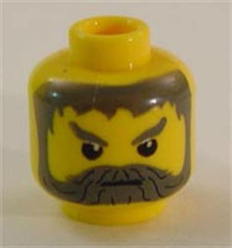 Lego Part Yellow Minifig Moustache Curly Gray Streaks In Hair lego 7418 дворец скорпионов описание детали