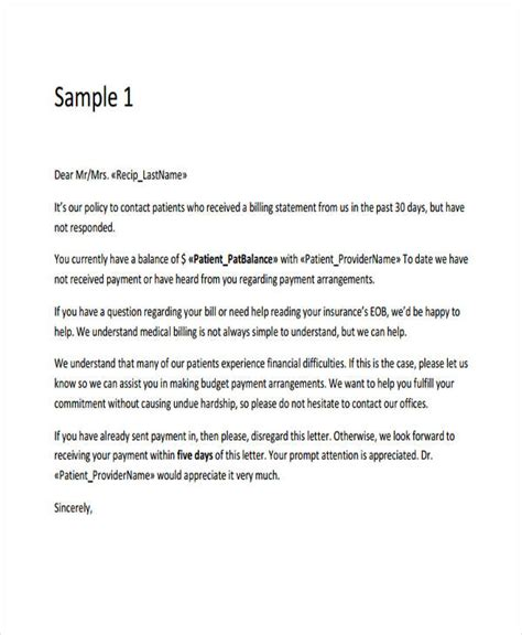 Business Letter Format For Collections 7 collection letter templates 7 free sle exle