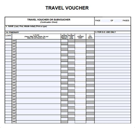 travel voucher template free best photos of travel voucher printable united airlines