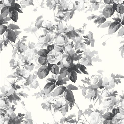 black and white floral wallpaper b q best 25 grey floral wallpaper ideas on pinterest b q