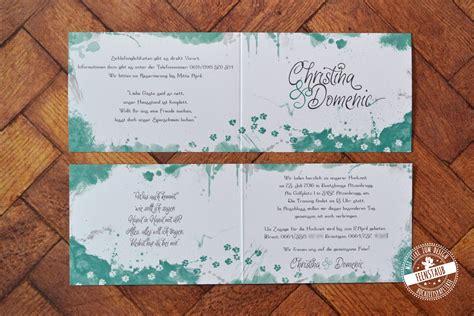 Hochzeitseinladung Aquarell by Hochzeitseinladung Individuelle Hochzeitspapeterie