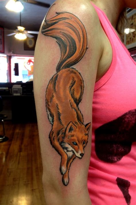 neo traditional fox tattoo tattoo collection