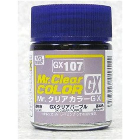 Mr Clear Color Gx Clear Gx 102 mr color gx 107 clear purple toys
