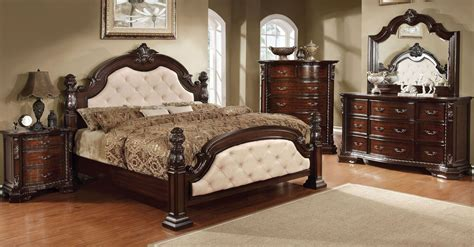 ivory bedroom set monte vista i ivory leatherette poster bedroom set