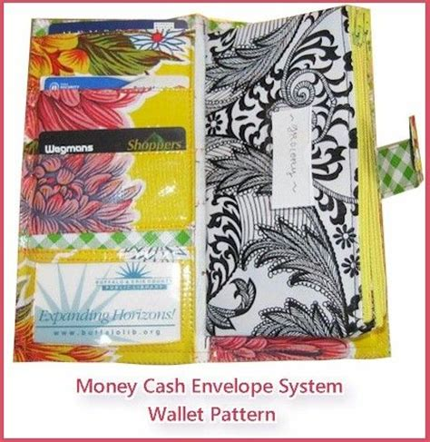 pattern for envelope system wallet budget envelope system wallet organizer pdf sewing