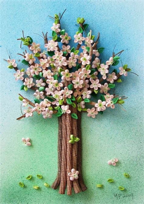 paper quilling tree tutorial spring blossom iii quilling park