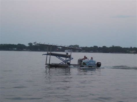 boat lift for sale ohio hydraulic work barge tritoon pontoon for boat lift