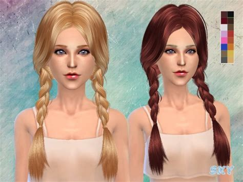 sims 3 hair braid tsr the sims resource over sims 4 hairs the sims resource double braids hairstyle