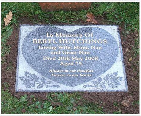 blessing on of granite flat granite headstones at american headstones