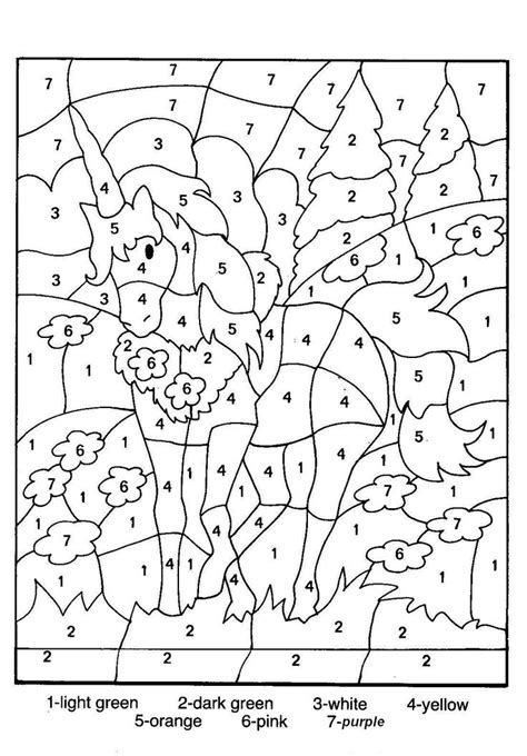 number coloring pages color by number coloring pages for 10 color by number