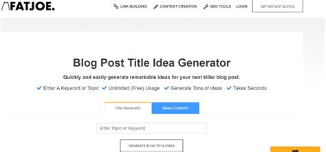 biography title generator 6 life saving tools to help you generate more blog titles