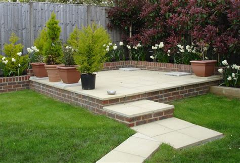 Garden Patio Ideas Uk Triyae Backyard Landscaping Ideas With Deck