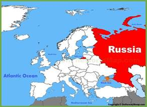 Russia World Map by Russia Location On The Europe Map